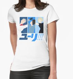 """""""Viktor, Yuri, Yurio"""" Womens Fitted T-Shirts by GinHans 