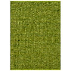 @Overstock.com - Hand-woven Green Jute Rug (6' x 9') - Lend a touch of natural style to your decor with this hand-woven rug. Constructed of durable jute, this area rug features a vibrant green hue.  http://www.overstock.com/Home-Garden/Hand-woven-Green-Jute-Rug-6-x-9/5880476/product.html?CID=214117 $123.29
