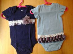 DIY baby girl onsies, supplies from Michael's for about $11.