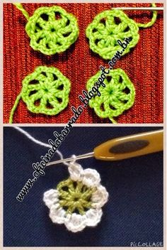 little crochet flower - is part of a bigger flower - but I love this state - OFICINA DO BARRADO