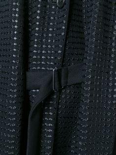 Coat of my dreams - detail: Ann Demeulemeester Manteau Long À Revers Brodé - Julian Fashion - Farfetch.com