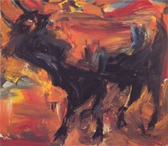 Elaine De Kooning, Sunday Afternoon, Oil on Masonite , 1957 Willem De Kooning, Expressionist Artists, Abstract Expressionism, De Kooning Paintings, Elaine De Kooning, Paintings Famous, Famous Artists, Abstract Paintings, Oil Paintings