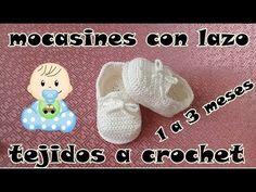 mocasines tejidos a crochet - YouTube