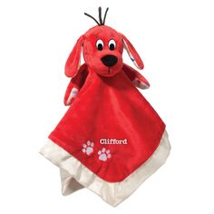 This precious Clifford the Big Red Dog Baby Blanket 13 Inch Lil' Snuggler by Douglas makes a perfect cuddle buddy for any baby. The super soft baby blanket has the head of Clifford the Big Red Dog at its center. Plush Baby Blankets, Snuggle Blanket, Shower Bebe, Red Dog, Personalized Baby Blankets, Baby Cover, Plush Animals, Stuffed Animals, Bitty Baby