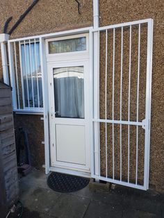 Door gates are the perfect security solution for your front and back doors, providing an ultimate doorway barrier to residential and commercial burglars. Security Gates, Door Gate, Security Solutions, Back Doors, Doorway, Basement, House Plans, Garage Doors, Home Appliances