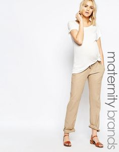 Immagine 1 di Mamalicious - Pantaloni in lino