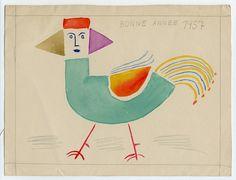 Victor Brauner, New Year's greeting from artist Victor Brauner