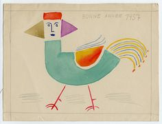 Victor Brauner, New Year's greeting from artist Victor Brauner