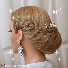 wedding hair videos Two stunning hairdos, what more could you want By: hairstylebymehtap Hairstyles For Seniors, Valentine's Day Hairstyles, Short Hairstyles For Thick Hair, Braided Hairstyles For Wedding, Wedding Hairdos, Female Hairstyles, Hair Up Styles, Medium Hair Styles, Bridal Hairdo