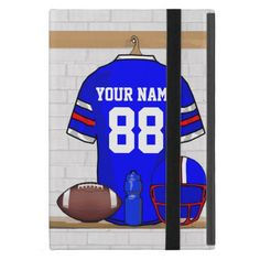 Personalized Blue White Red Football Jersey iPad Pro 12.9