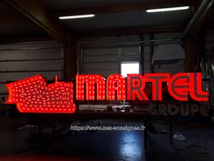 Enseigne grand format MARTEL Groupe Grand Format, Neon Signs, Lyrics, Group, Catalog