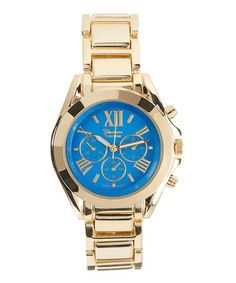Take a look at this Blue & Gold Chronograph Watch on zulily today!