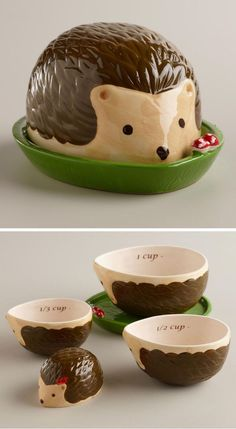 This family of kitchen help. | Community Post: 44 Amazingly Cute Products Every Hedgehog Lover Needs