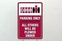 Vintage Case IH International Harvester Logo Farm Tractor Metal Parking Sign   eBay