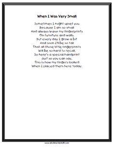 Printable Keepsake Handprint Poem