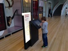 Touch screen totem   @ National Museum of Scotland