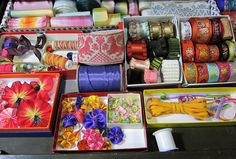 Inspiration-J: Candace Kling's ribbon drawer