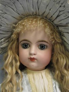 """24"""" Antique FRENCH Bisque EDEN BEBE Doll c1890 Blue Eyes,beautifully Dressed"""