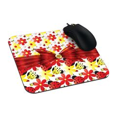 Amazon.com : Watreack Design Mousepad Ladybug Happiness Custom Mouse Mat : Office Products