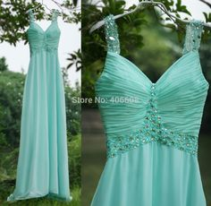 Find More Prom Dresses Information about Cheap Real Photo Chiffon A Line Bridesmaid Dresses Spaghetti V Neck Pleated Beads Mint Green Prom Dress 2015,High Quality dress chair,China dress up girls dresses Suppliers, Cheap dress a dress from Forever Lover Bridal on Aliexpress.com