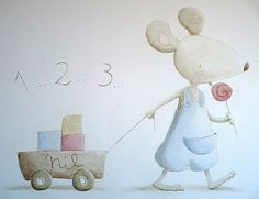 ratolí a la paret Drawing For Kids, Art For Kids, Baby Room Pictures, Baby Animal Drawings, Baby Hamper, Naive Art, Baby Scrapbook, Cute Images, Cute Illustration