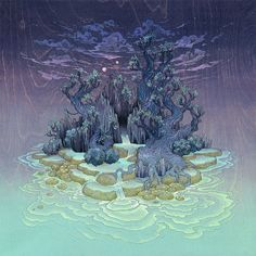 Moonlight Isle by Nicole Gustafsson art