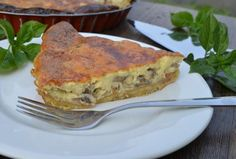 Mushroom Quiche | Hadia's Lebanese Cuisine   With its nice golden top, this tasty and fluffy mushroom quiche, seasoned with fresh rosemary, never fails to impress anyone.  It is easy to throw together especially if you prepare the crust a day or more ahead.  Quiche is my best way of eating eggs and it is perfect for breakfast, lunch or dinner.  When you cut the quiche into portions, they are so nicely sliced as well!