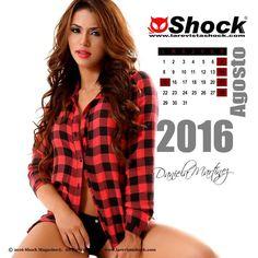 """Llego Agosto en pleno verano. Disfrútalo junto a nuestra Chica Calendario 2016 """"Daniela Martínez"""". Foto: Kike Rosero. Solo en Shock Magazine"""