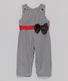 Another great find on #zulily! Black Houndstooth Bow John Johns - Infant & Toddler by Caught Ya Lookin' #zulilyfinds