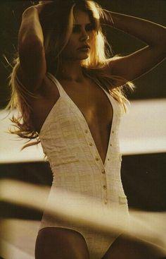 Brigitte Bardot full-body swimsuit white vintage stylish