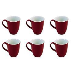 Flirt by Ritzenhoff & Breker Doppio Rot Kaffeebecher-Set 6tlg. - http://geschirrkaufen.online/flirt-by-r-b/flirt-by-ritzenhoff-breker-doppio-rot-set-6tlg