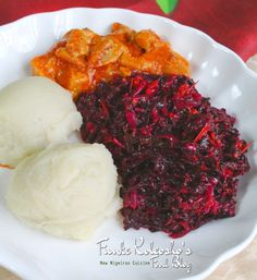 Red Spinach Efo Riro for Lunch
