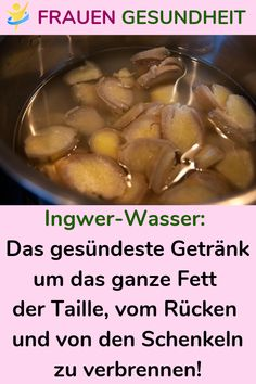 Ginger Water: The healthiest drink around all the fat of the waist, back and thighs - Healthy Drinks to Lose Weight Diet Drinks, Healthy Drinks, Healthy Dinner Recipes, Vegetarian Recipes, Ginger Shot, Ginger Water, Healthy Detox, Healthy Tips, Drinks For Bloating