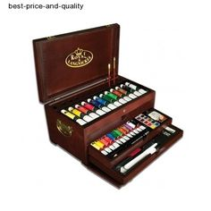 Artist Supplies in a Wooden Box: Royal & Langnickel Premier Painting Chest Art Set Artist Brush, Artist Painting, Painting & Drawing, Rock Painting, Artist Art, Oil Painting Supplies, Artist Supplies, Paint Supplies, Chaise Origami