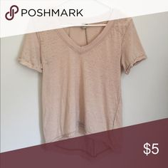 Free People Dusty Pink V-Neck Tee Soft, heather fabric, v-neck tee Free People Tops Tees - Short Sleeve