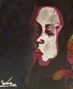 Portrait - mai 2016 - Honorin NAIMO acrylique sur toile