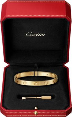 Cartier love bracelet - yellow gold or rose gold? Bracelet Rose Gold, Bracelet Love, Bracelets Roses, Love Bracelets, Jewelry Bracelets, Diamond Bracelets, Ankle Bracelets, Emoji Jewelry, Diamond Jewellery