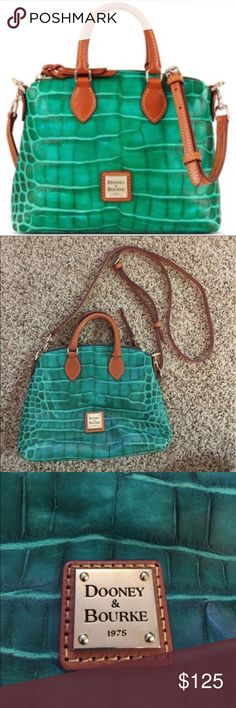 "RARE Dooney & Bourke Nile Croco Crossbody Satchel Brand new without tags. Hard to find and sold out everywhere. 10.75"" L (at the widest point) x 8.25"" H x 3.5"" D (at the widest point towards the bottom of the bag) Dooney & Bourke Bags Crossbody Bags"