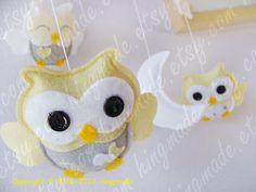 Baby Mobile  Owl Mobile  Nursery Mobile  Crib Mobile  by hingmade, $88.00