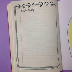 Brain Dump spread - October set up in my bullet journal