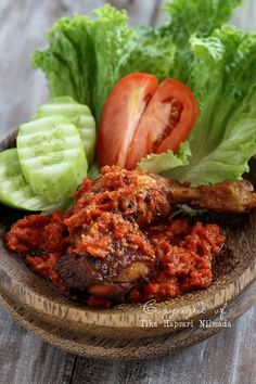 Indonesian Crushed Fried Chicken / Ayam Penyet