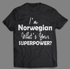 Norwegian Superpower Tshirt-Phone case