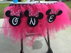 Minnie Mouse Tutu Highchair Cover by MeggsMonograms on Etsy