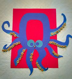 O is for Octopus! O is for…Preschool letter of the week. Letter O craft. O is for Octopus! O is for…Preschool letter of the week. Letter O craft. Preschool Letter Crafts, Alphabet Letter Crafts, Preschool Projects, Daycare Crafts, Toddler Crafts, Preschool Activities, Alphabet Book, Letter Art, Letter O Activities