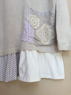 Large / Shabby Chic Tunic recycled Clothing by SimplyCathrineAnn