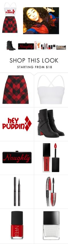 """""""-Krissy"""" by krissyk-15 on Polyvore featuring Superdry, Theory, Christian Louboutin, Edie Parker, Smashbox, Burberry, L'Oréal Paris, NARS Cosmetics, Butter London and NYX"""