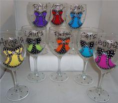 glasses for each girl, fun!