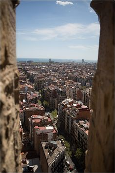 On top of Sagrada Família, Basilica – one of the best views over Barcelona, Spain