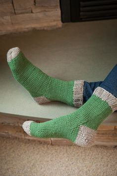 Worsted Socks - Knitting Patterns and Crochet Patterns from KnitPicks.com by Kerin Dimeler- Laurence