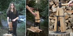 The Kindling Cracker Is A Creatively Safer And Easier Way To Split Wood.